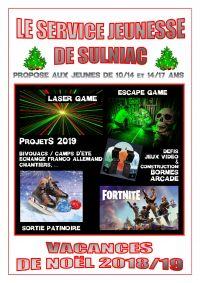 MDJ - Vacances de Noël 2018
